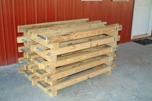 Pallets 8-12 stacked